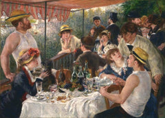 Pierre-Auguste Renoir 'Luncheon of The Boating Party', France, 1886, Reproduction 200gsm A3 Vintage Classic Art Poster