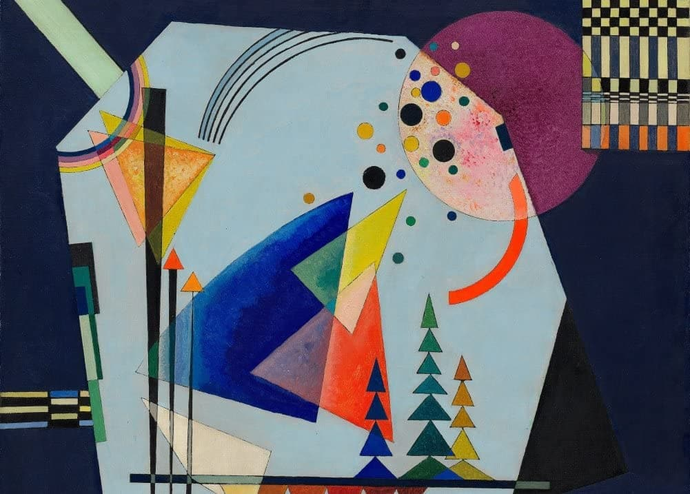 Kandinsky 'Three Sounds, Detail', Russia, 1926, Reproduction 200gsm A3 Vintage Classic Art Poster