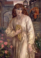 Dante Gabriel Rossetti 'Salutation of Beatrice, Detail', England, 1859, Reproduction 200gsm A3 Vintage Classic Art Poster