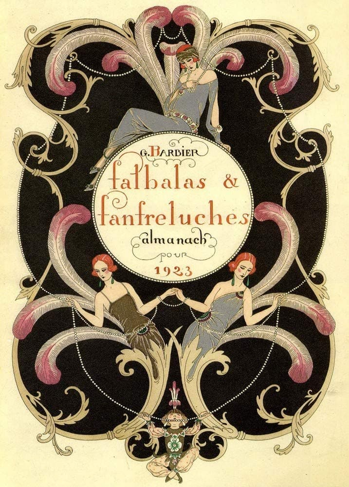 George Barbier 'Falbas and Fanfreluches', France, 1923, Reproduction 200gsm A3 Vintage Classic Art Deco Poster