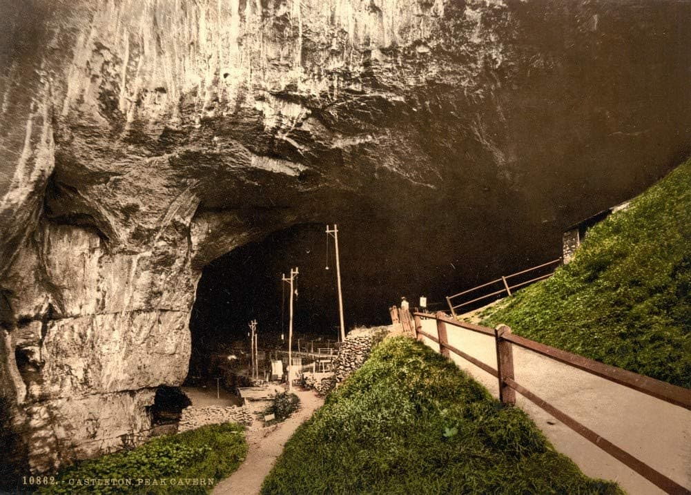 Vintage Travel England 'Derbyshire, Peak Cavern, Castleton', 1890's, Reproduction 200gsm A3 Vintage Photography and Travel Poster