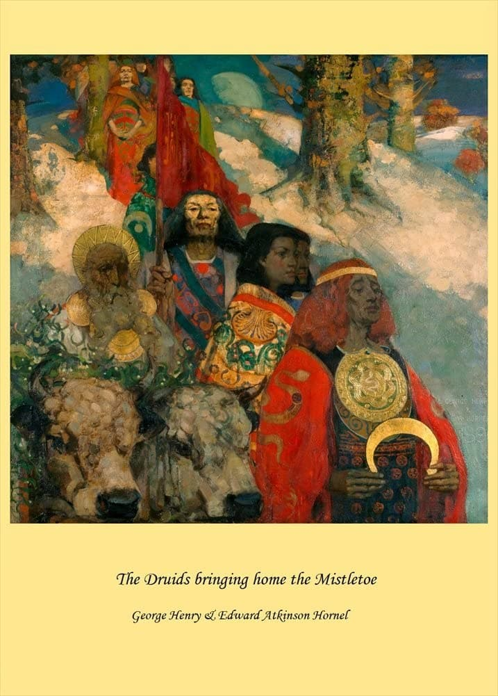 Edward Atkinson Hornel 'The Druids Bringing Home The Mistletoe', 1890, Scotland, Reproduction 200gsm A3 Vintage Classic Art Poster