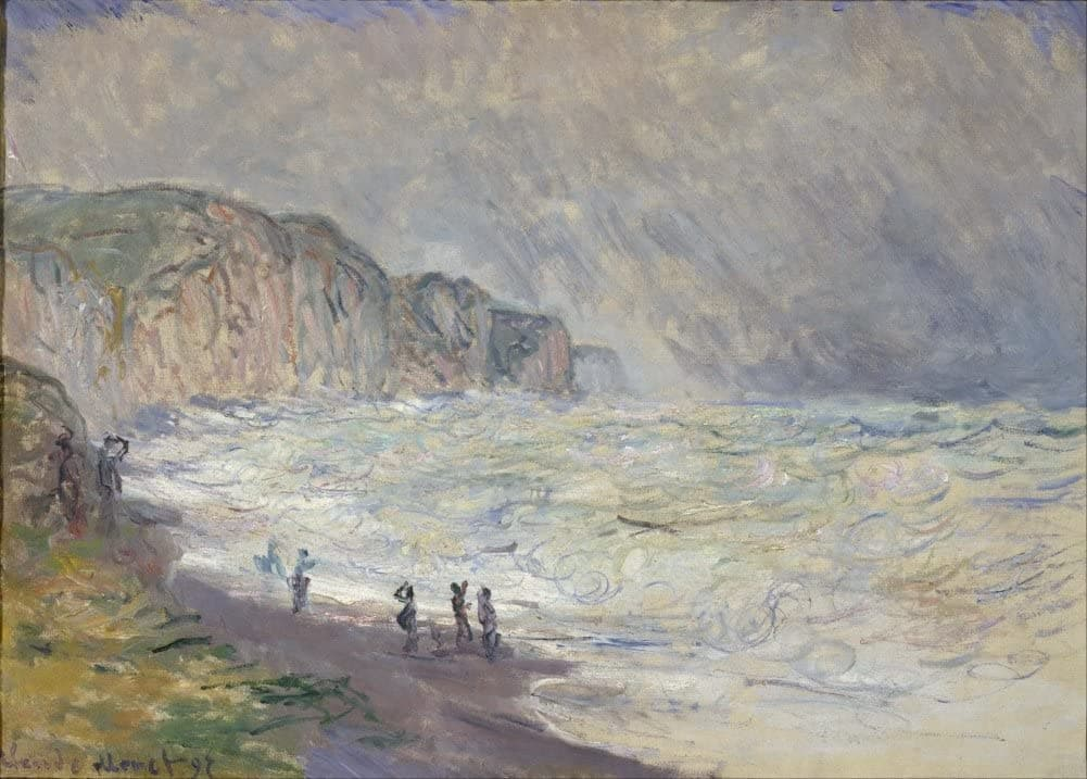 Claude Monet 'Heavy Sea at Pourville', France, 1897, Impressionism, Reproduction 200gsm A3 Vintage Classic Art Poster