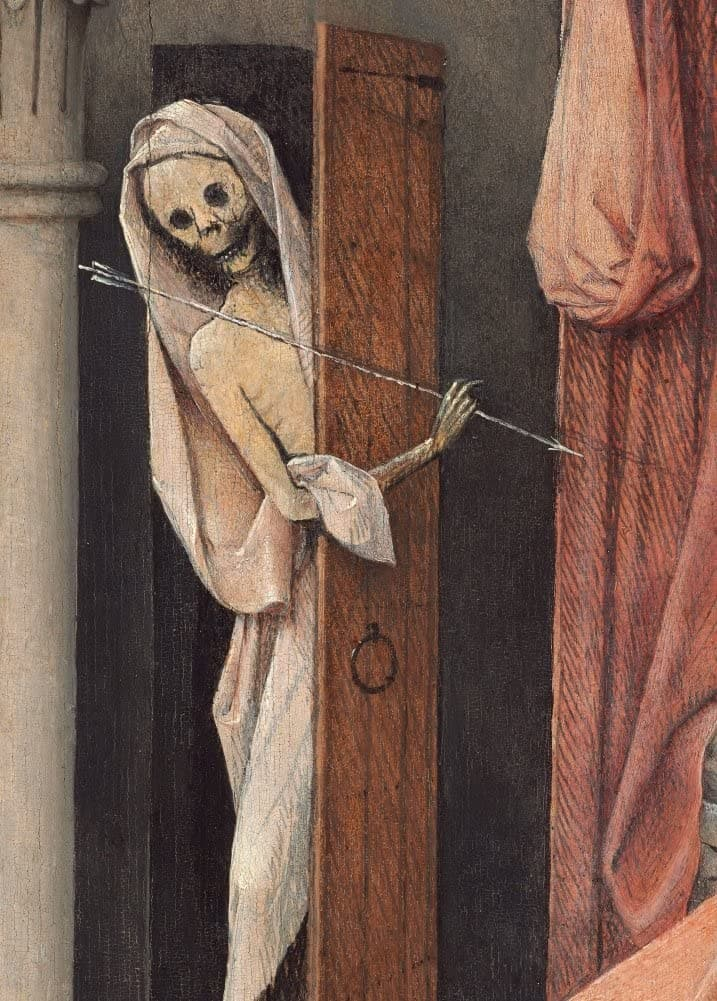 Hieronymus Bosch 'Death, from Death and The Miser, Detail', Netherlands, 1485-90, Reproduction 200gsm A3 Vintage Classic Art Poster
