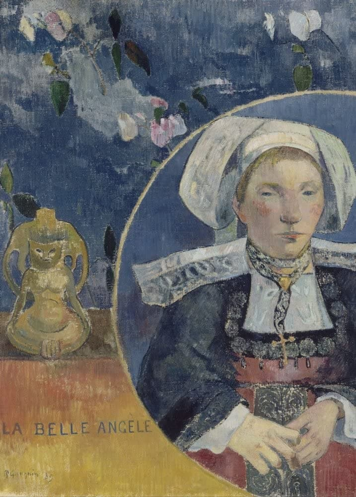 Paul Gauguin 'La Belle Angele, Detail', France, 1889, Reproduction 200gsm A3 Vintage Classic Art Poster