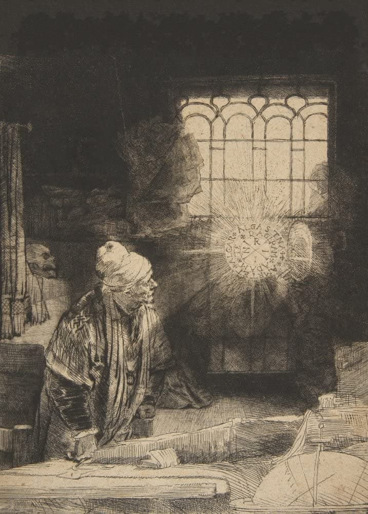 Rembrandt 'Faust', Netherlands, 1652, Reproduction 200gsm A3 Vintage Classic Art Poster