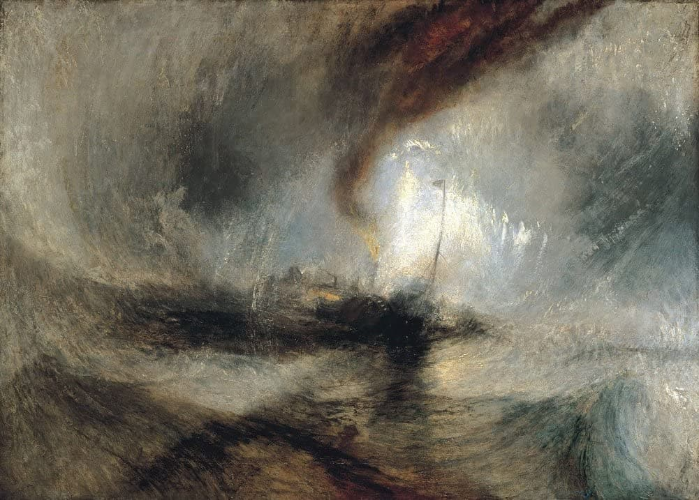 J.M.W Turner 'Snow Storm, Steam Boat Off a Harbour's Mouth Making Signals in Shallow Water', England, 1842, Reproduction 200gsm A3 Vintage Poster