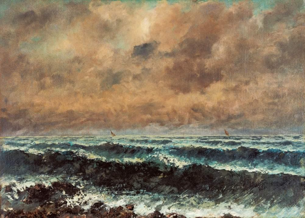 Gustave Courbet 'Autumn Sea', France, 1867, Reproduction 200gsm A3 Vintage Classic Art Poster