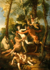 Nicolas Poussin 'Pan and Syrinx', France, 1637, Reproduction 200gsm A3 Vintage Classic Art Poster