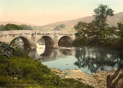 Vintage Travel England 'Derbyshire, Grindleford Bridge', 1890's, Reproduction 200gsm A3 Vintage Photography and Travel Poster