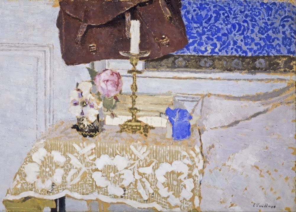 Edouard Vuillard 'The Candlestick, Detail', France, 1900, Impressionism, Reproduction 200gsm A3 Vintage Classic Art Poster