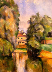 Paul Cezanne 'Country House by a River', France, 1890, Reproduction 200gsm A3 Vintage Classic Art Poster