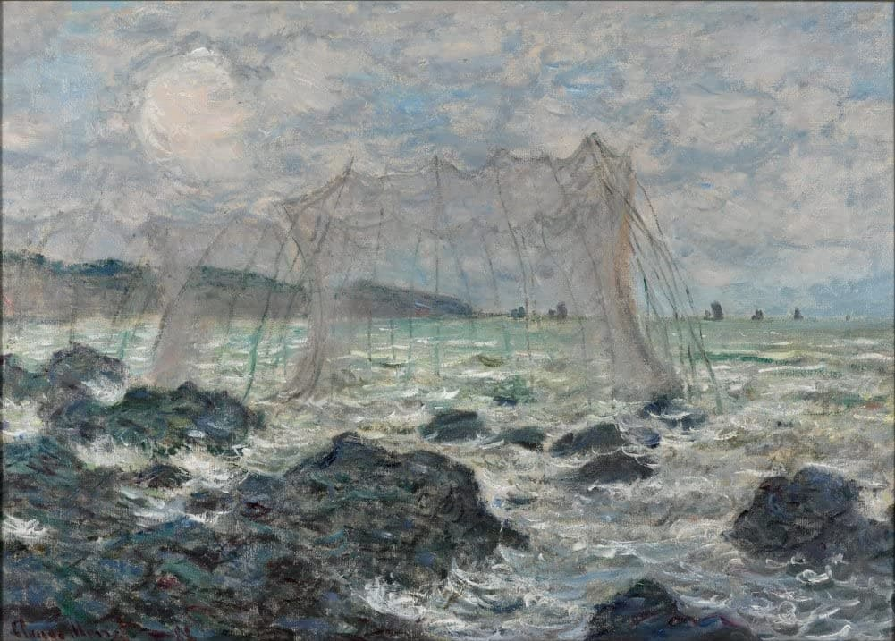 Claude Monet 'Fishing Nets at Pourville', France, 1882, Impressionism, Reproduction 200gsm A3 Vintage Classic Art Poster