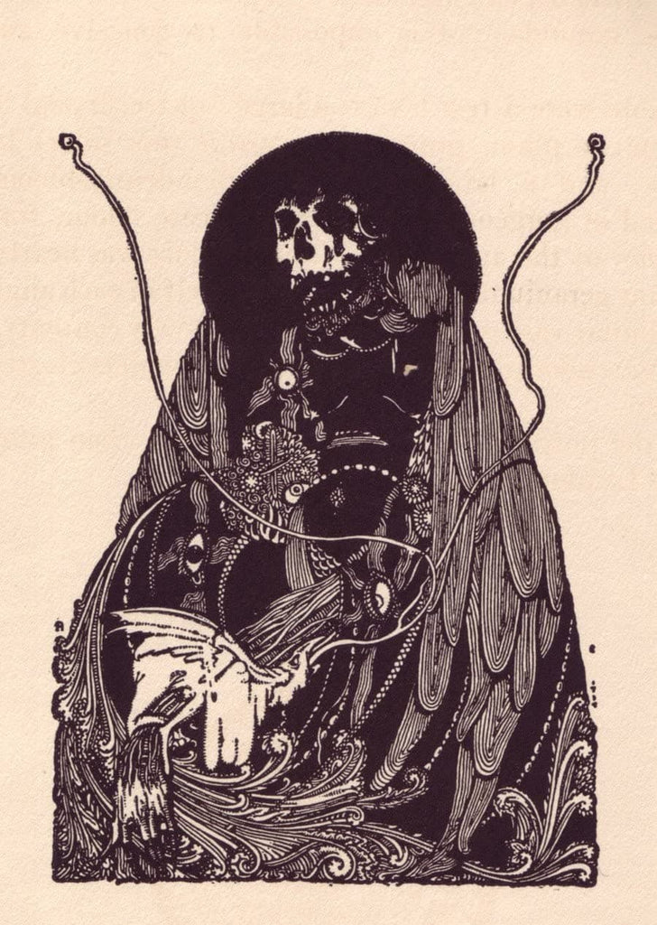 Harry Clarke 'A Figure from Edgar Allan Poe's Tales of Mystery and Imaginatione', 1919, Ireland, Reproduction 200gsm A3 Vintage Classic Art Poster