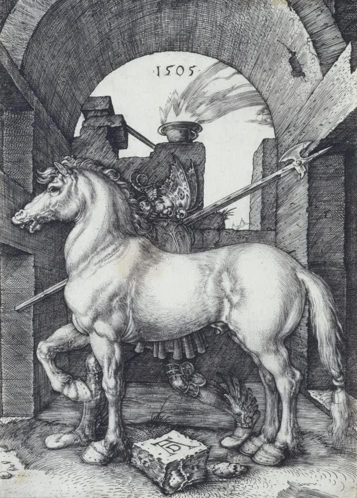 Albrecht Durer 'The Small Horse', Germany, 1505, Reproduction 200gsm A3 Vintage Classic Art Poster