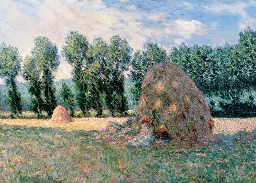 Claude Monet 'Haystacks', France, 1885, Impressionism, Reproduction 200gsm A3 Vintage Classic Art Poster