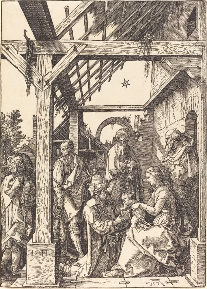 Albrecht Durer 'The Adoration of The Magi', Germany, 1511, Reproduction 200gsm A3 Vintage Classic Art Poster