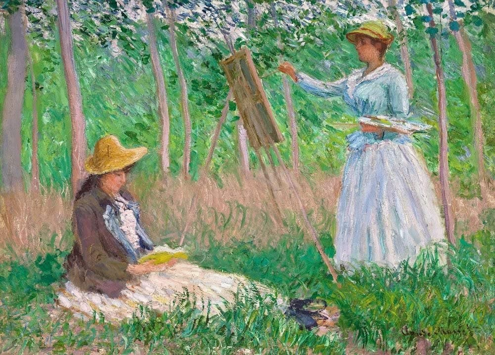 Claude Monet 'in The Woods at Giverny', France, 1887, Impressionism, Reproduction 200gsm A3 Vintage Classic Art Poster