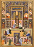 Vintage Persian and Islamic Art 'Abd Allag Musawwir. The Meeting of The Theologians', Iran, 17th Century, Reproduction 200gsm A3 Vintage Classic Art Poster