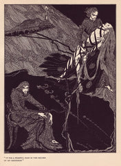 Harry Clarke 'It was a Fearful Page in The Record of My existence', from 'Tales of Mystery and Imagination', Ireland, 1919 by Edgar Allan Poe, Reproduction 200gsm A3 Vintage Classic Art Poster