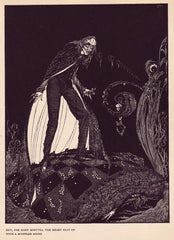 Harry Clarke 'But for Many Minutes The Heart Beat on', from 'Tales of Mystery and Imagination', Ireland, 1919 by Edgar Allan Poe, Reproduction 200gsm A3 Vintage Classic Art Poster