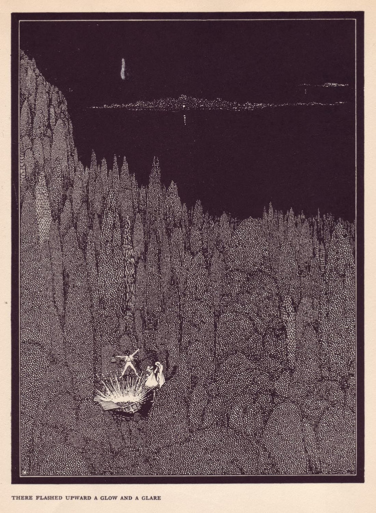 Harry Clarke 'There Flashed Upon a Glow and Glare', from 'Tales of Mystery and Imagination', Ireland, 1919 by Edgar Allan Poe, Reproduction 200gsm A3 Vintage Classic Art Poster