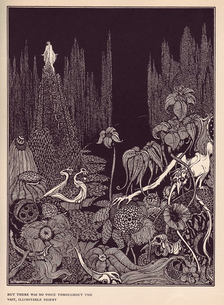 Harry Clarke 'But There was no Voice Throughout The Vast Desert, from 'Tales of Mystery and Imagination', Ireland, 1919 by Edgar Allan Poe, Reproduction 200gsm A3 Vintage Classic Art Poster