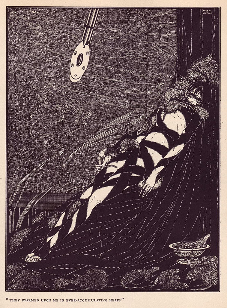Harry Clarke 'They Swarmed Upon me in Ever-accumalating Heaps', from 'Tales of Mystery and Imagination', Ireland, 1919 by Edgar Allan Poe, Reproduction 200gsm A3 Vintage Classic Art Poster
