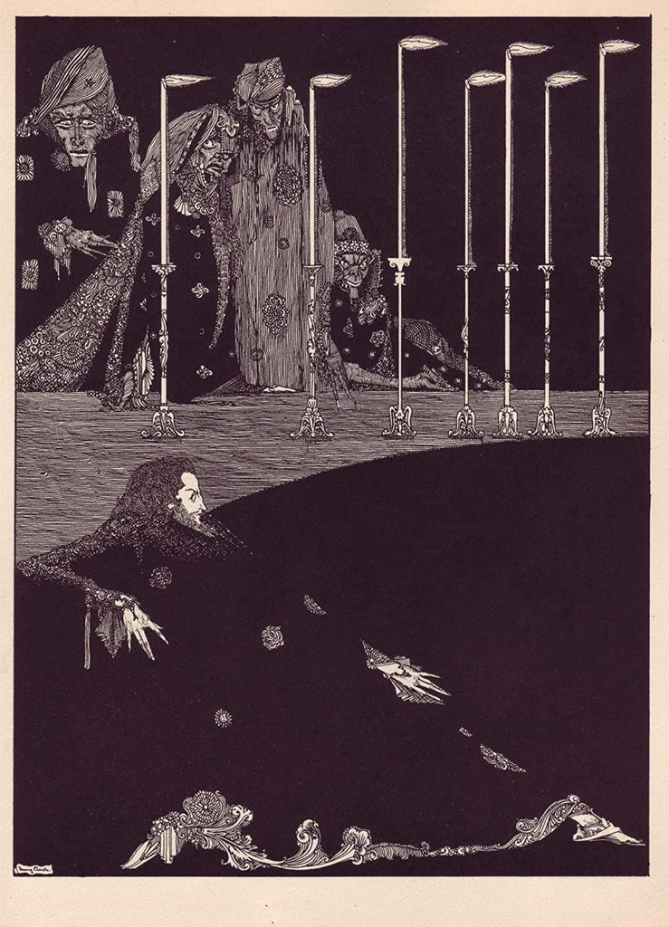 Harry Clarke 'I Saw Them Fashion The syllables of My Name', from 'Tales of Mystery and Imagination', Ireland, 1919 by Edgar Allan Poe, Reproduction 200gsm A3 Vintage Classic Art Poster