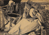 Frederick Sandys 'Until her Death, Detail', England, 1867, Reproduction 200gsm A3 Vintage Classic Art Poster