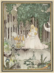 Kay Nielsen 'He Too Saw The Image in The Water', from 'East of The Sun and West of The Moon', Denmark, 1914, Reproduction 200gsm A3 Vintage Classic Art Nouveau Poster