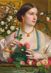 Frederick Sandys 'Grace Rose, Detail', England, 1866, Reproduction 200gsm A3 Vintage Classic Art Poster