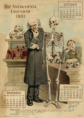Professor and Student, from 'The Antikamnia Calendar', reproduction 200gsm A3 antique pharmaceutical poster
