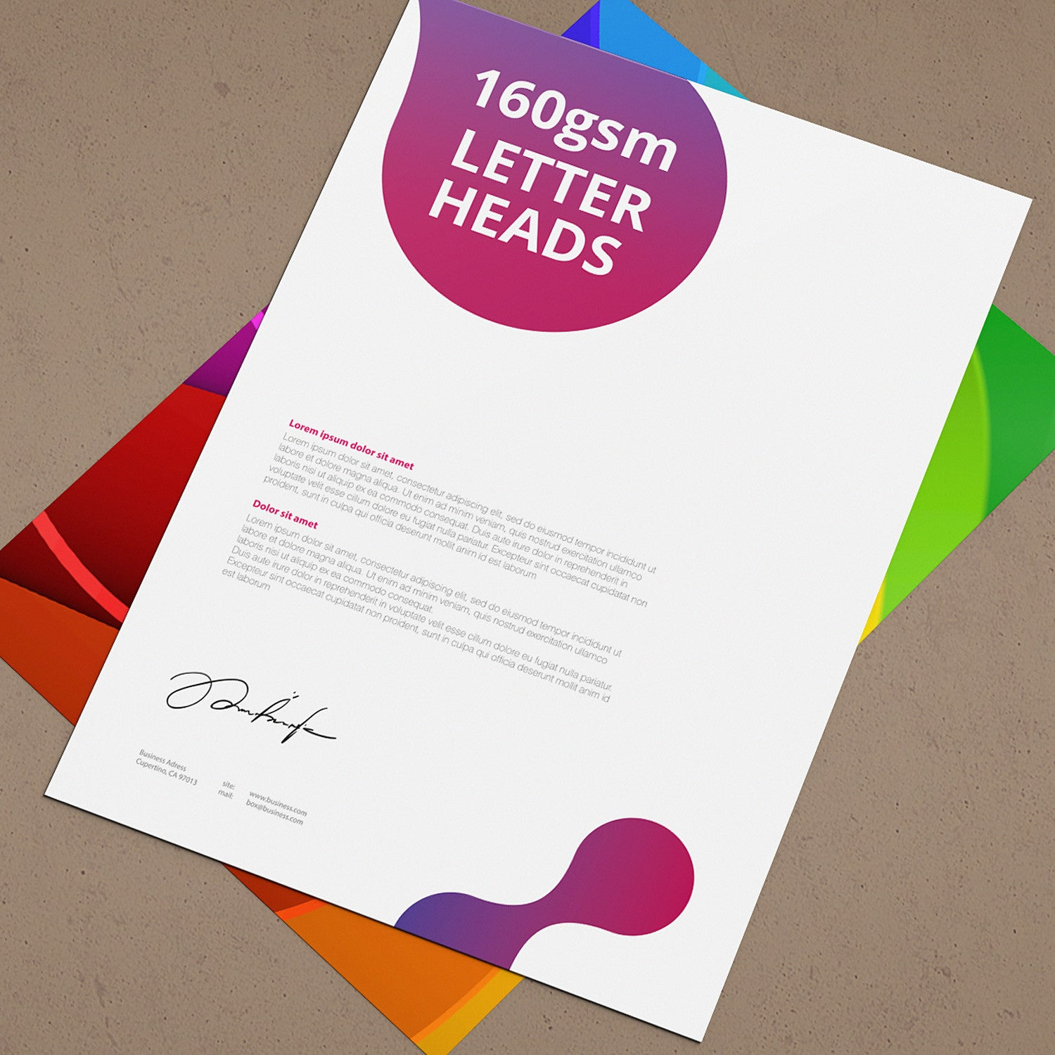 160gsm letterheads arch 5 design