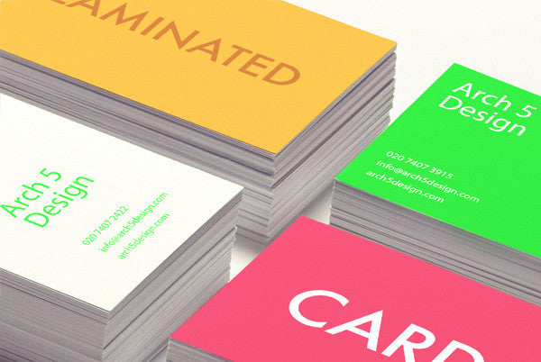 350gsm Laminated Business Cards