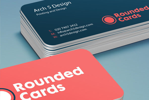 350gsm Rounded Business Cards