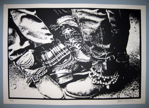 EDWARD COLVER PHOTOGRAPHY Boots '80 Silkscreen Print