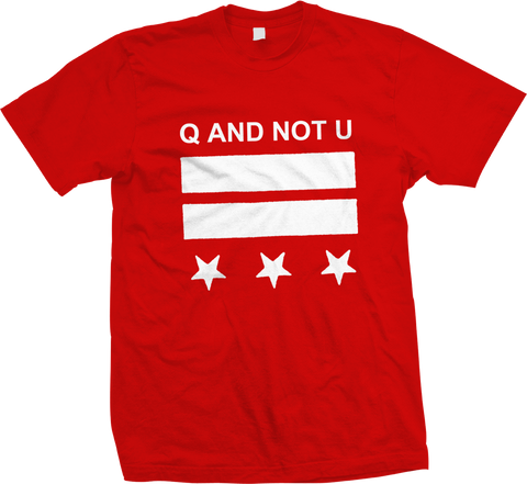 Q AND NOT U DC Logo Shirt - NEW - SHIPPING NOW