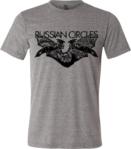 RUSSIAN CIRCLES Bats Grey Shirt