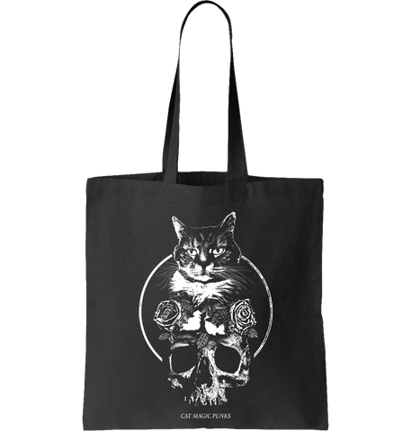CAT MAGIC PUNKS: Feline Forever Tote Bag - NEW