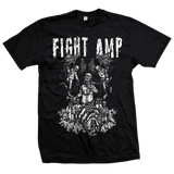 FIGHT AMPUTATION Blue Collar Shirt - MEGA SALE