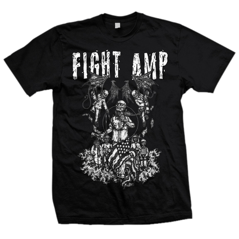 FIGHT AMPUTATION Blue Collar Shirt