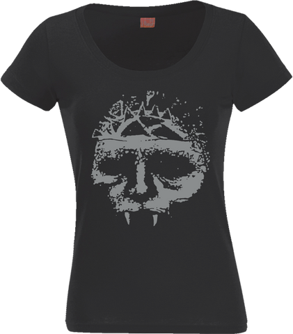 INTEGRITY Classic Skull Silver Women's Scoop Neck Shirt