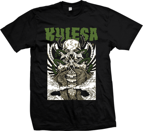 KYLESA Double Skull Green Shirt - ON SALE