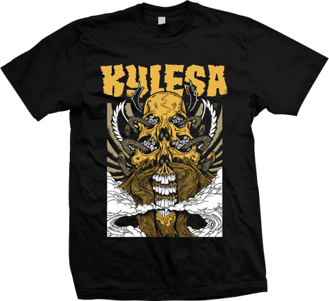 KYLESA Double Skull Gold Shirt - ON SALE