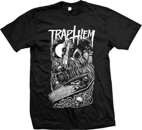 TRAP THEM Graveyard Chainsaw Shirt - NEW