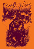 WEEDEATER Moon Ape Orange Shirt