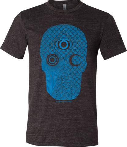 YOUNG WIDOWS Easy Pain Skull Blue Shirt