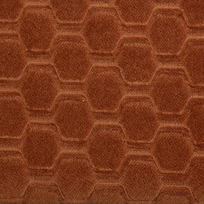 Carver Embossed Burnt Orange