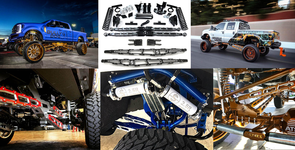Stryker off road design suspension lift kits and performance upgrades for Ford Super Duty and Dodge Ram
